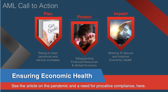 The need for AML efforts in response to the COVID 19 pandemic